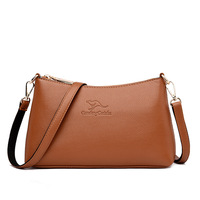 Women's Embossed Leather Indentation Bag Winter New Style Middle aged Women's New Moon Bag Mommy Bag Versitile Fashion Soft Leat