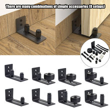 Carbon Staal Verstelbare Schuiven Slides Floor Guidefor Schuur Deur Accessoire Schuifdeur Slide Rail Mechanisme Meubels