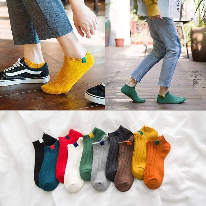 5 Pairs High Quality Mens Autumn Summer Socks Classic Patchwork Mesh Breathable Cotton Men Short Sock Male Socks EU 39-43 Meias