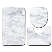 Bath Mats Printed Marble Carpet Toliet Cover Kitchen Floor Mat Absorbent Foot Pad Anti Slip Washable Bathroom Mat Home Decor plate floor pad plate type flower type printing anti slip absorbent flannel home floor pad