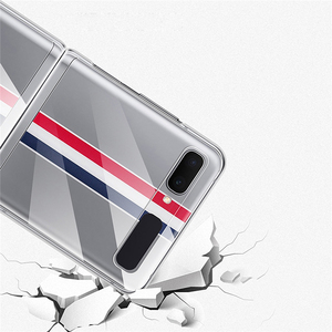 Image 5 - Shockproof Protective Case Clear Crystal Hard PC Back Cover for Samsung Galaxy Z Flip Fold Mobile Phone Accessories