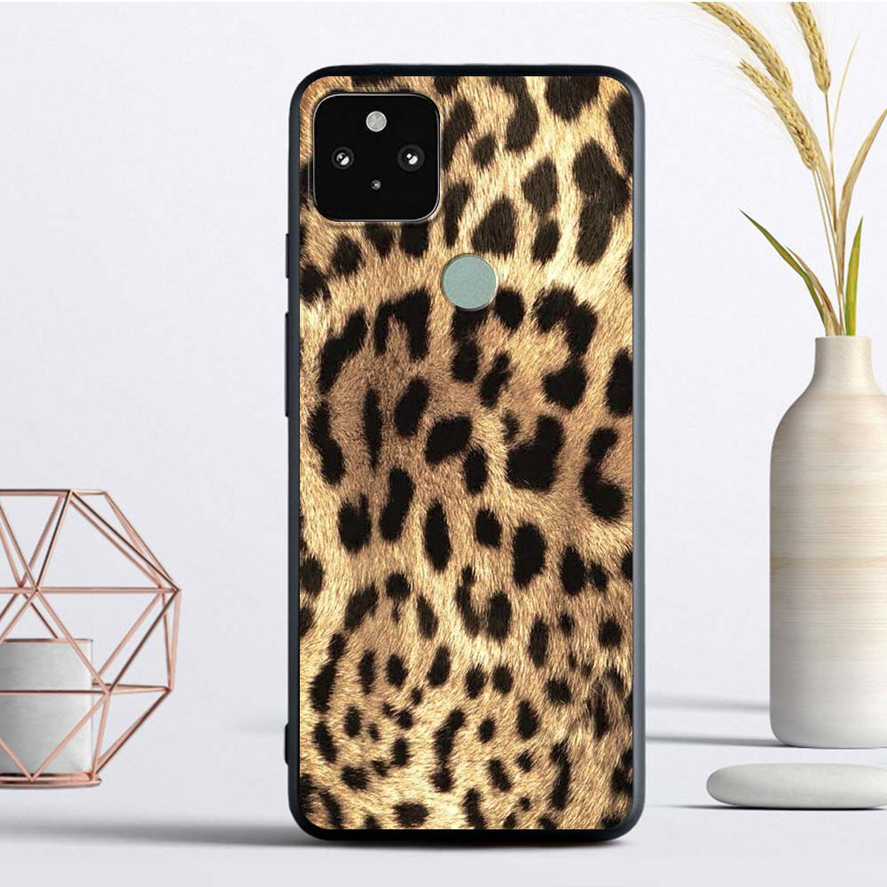 Leopard Silicon Phone Case For Google Pixel 4 XL 4A 4G Fundas For Pixel 5 Soft TPU Cover Back Coque Cell Capas Shell Cell Bag