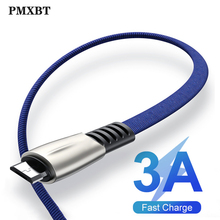 Micro USB Cable 3.0A Fast Charging Microusb Charger Cord For Samsung S7 S6 J7 Xiaomi Redmi Note 5 4 Tablet Android Phone Cables
