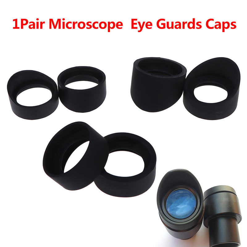 1Pair Eyepiece Eye Cups Rubber Eye Guards Caps For Stereo Microscope Inner Diameter 33 Mm 36mm Accessories Parts