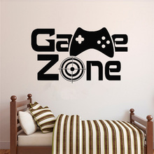 Gamer Wall Decal Game Zone Wall Decor Video Vinyl Wall Stickers for Kids Rooms Removable Home Decoration Art Mural pirate ship and treasure map decal set wall decal custom vinyl art stickers for classrooms kids rooms baby nurseries 3004