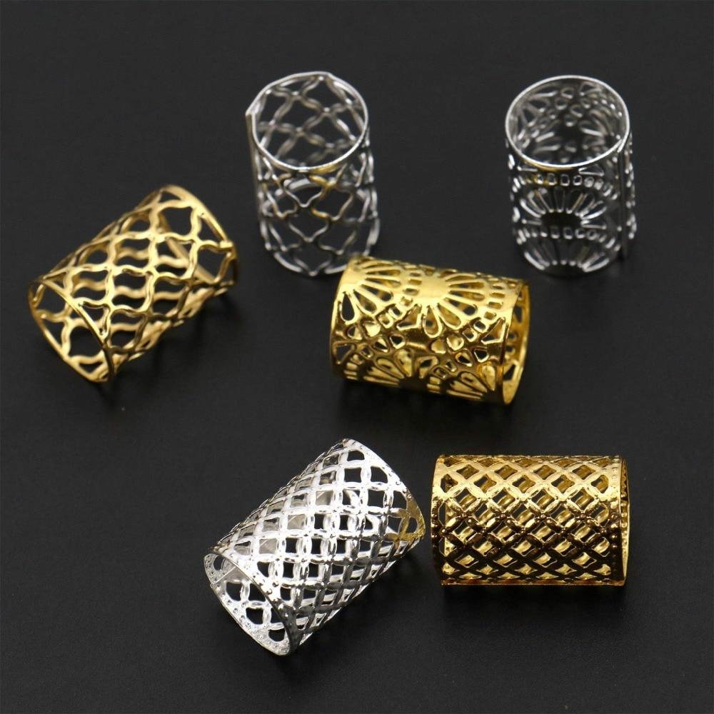 ouro e prata anéis de cabelo fechaduras