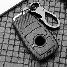 Чехол для автомобильного ключа из АБС углеволокна mercedes benz