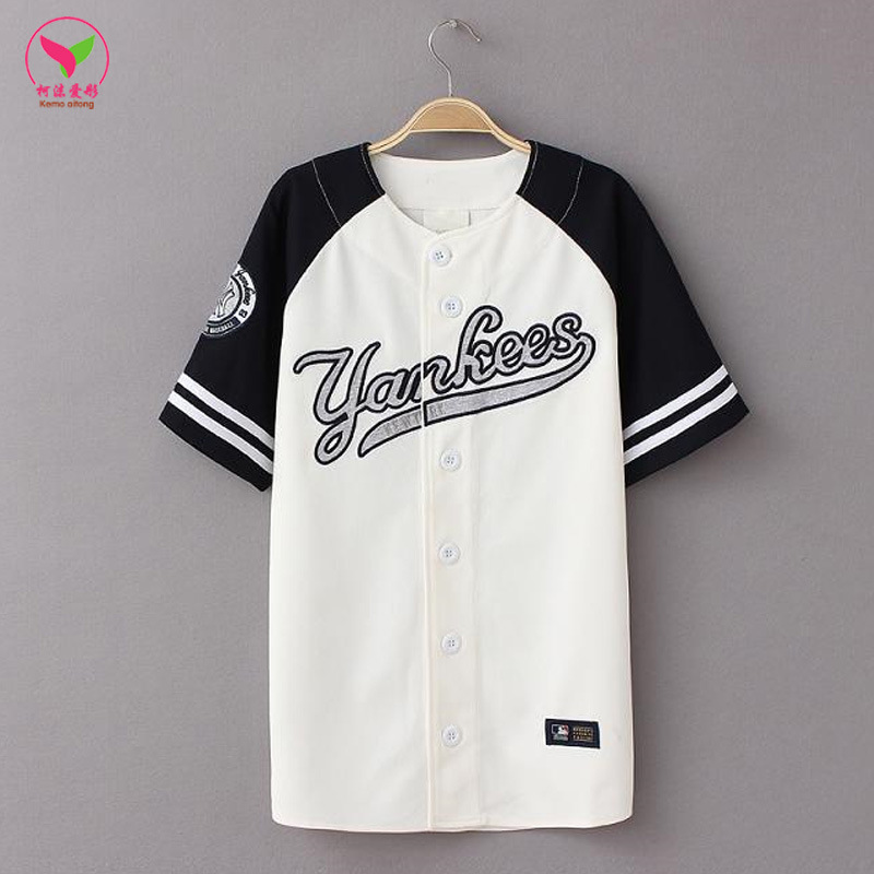 Baseball Cardigan Loose Hip Hop Clothing LNS Hip Hop Couples Summer Large Size American-Style Embroidered Business Attire Childr
