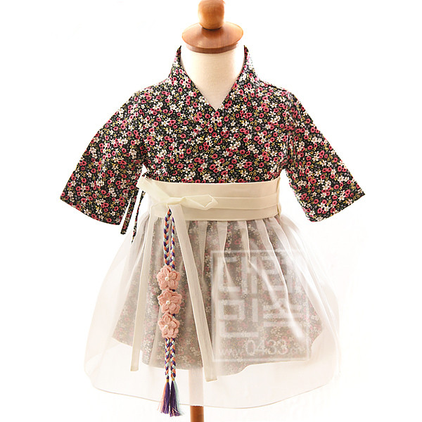 2020 Hanbok Dress Traditional Baby Girls Dress Korean Hanbok Outfit Orient Ethnic Stage Dance Copaly Costume Gift