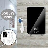 6500W 인스턴트 전기 Tankless 온수기 샤워 온수 히터 온도 조절기 주방 욕실 LCD 디스플레이 220V