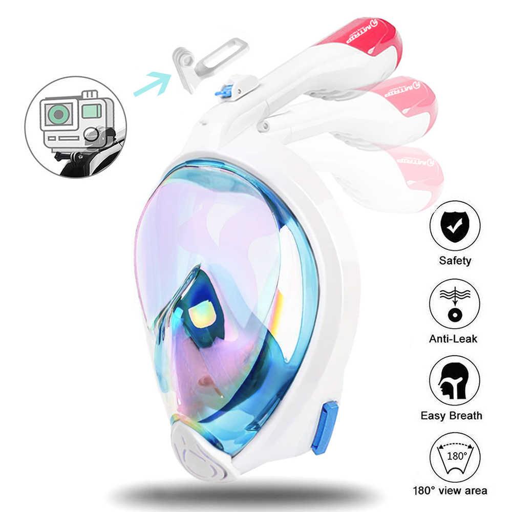 Nieuwe Generatie Duiken Masker Onderwater Anti Fog Volledige Gezicht Snorkelen Masker Vrouwen Mannen Kids Zwemmen Snorkel Duikuitrusting
