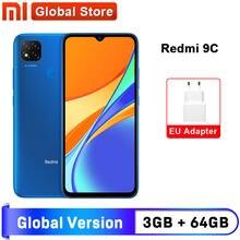 Xiaomi – Smartphone MI Redmi 9C, version globale, RAM de 3 Go, ROM de 64 Go, processeur MediaTak Helio G35, écran 6,53 pouces, batterie 5000 mAh, caméra 13MP