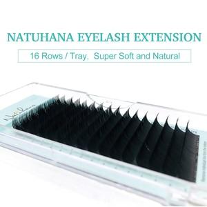 Image 4 - NATUHANA Wholesale 10Cases/Lot 16Rows Natural Mink Single Eyelash Extension Premium Individual Fake False Eye Lashes Extension
