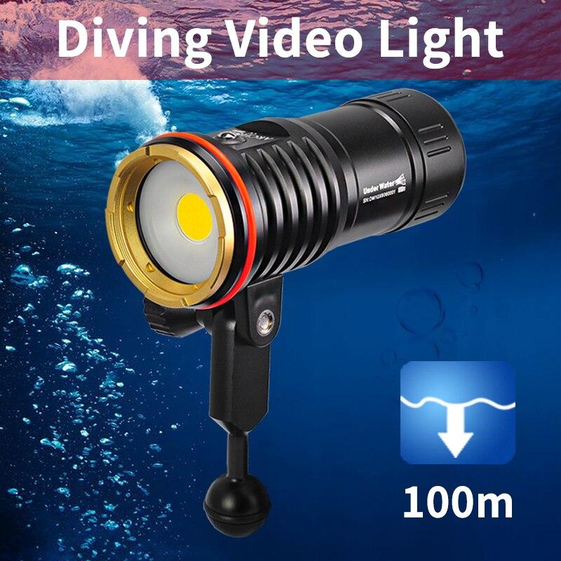 Image 5 - DM10 5500K 2700lumen diving photoraphy light HD video diving fill lamp Underwater 100m dive flashlight spot light lighting torchLED Flashlights   -
