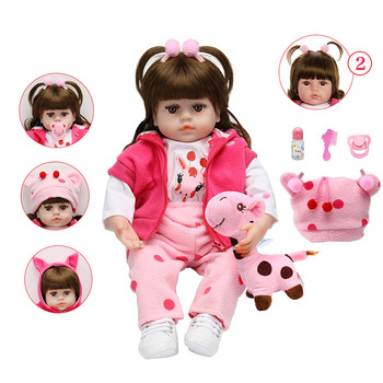 NEW Style Doll Reborn 48cm Lifelike Reborn Baby Doll Adorable Soft Baby Dolls With Curly Hair Realistic TOY  Christmas GIFT warkings reborn