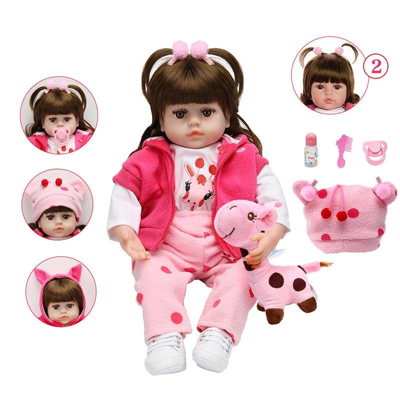 novo estilo boneca renascer 48cm realista bebe reborn boneca adoravel macio do bebe bonecas com cabelo