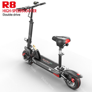 Double Drive Electric Skateboard Scooter Folding Two Wheels Electric Scooters 10'' Powerful Electric Scooter 1200W 48V 50KM/H