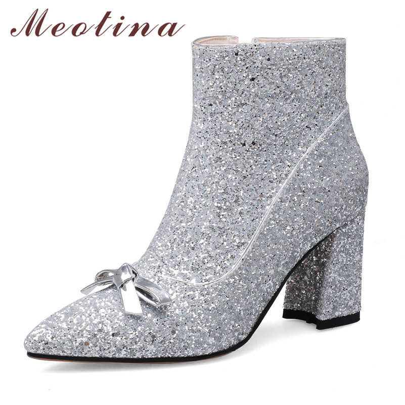 Meotina Winter Ankle Boots Women