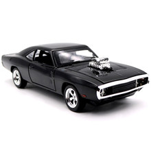 1:32 Scale Fast Metal Car Model Furious Dodge Charger Diecast Vehicle Toys Simulation Hot Sport Car With Wheels Toy For Boy Gift(China)