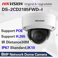 Hikvision 8MP POE IP Камера DS-2CD2185FWD-I Открытый 4K Сетевая купольная CCTV камера; sd-карта возможностью погружения на глубину до 30 м ИК H.265 +