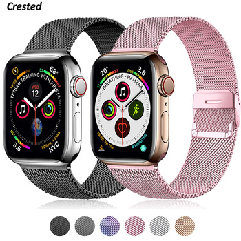 flim strap for apple watch 5 band 44mm 40mm iwatch band 42mm 38mm milanese loop bracelet metal watchband for apple watch 4 3 2 1 Milanese Loop For Apple Watch band 40mm 44mm 4 5 SE 6 strap Bracelet Stainless Steel for iwatch band 42mm 38mm series 1 2 3