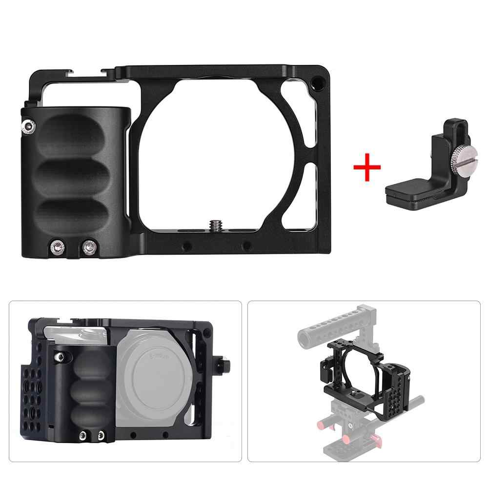 Yiwa Voor Sony A6000 A6300 A6500 NEX7 Video Camera Cage + Hand Grip Kit Film Making Systeem Met Kabel Klem r40