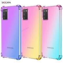 Do Samsung Galaxy A02S ue A02 A01 przezroczyste etui gradientowe do Samsung A02S US poduszki powietrzne narożniki odporna na wstrząsy miękka TPU przezroczysta okładka