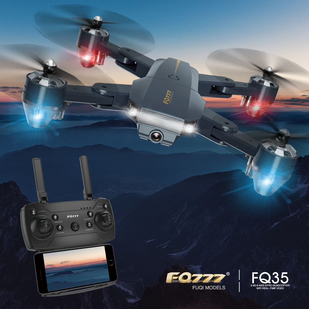 New Hot Selling Fq35 Unmanned Aerial Vehicle Folding Quadcopter Aerial Photography Mini Telecontrolled Toy Aircraft