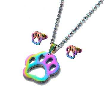Dog  Necklace Rainbow Color 1