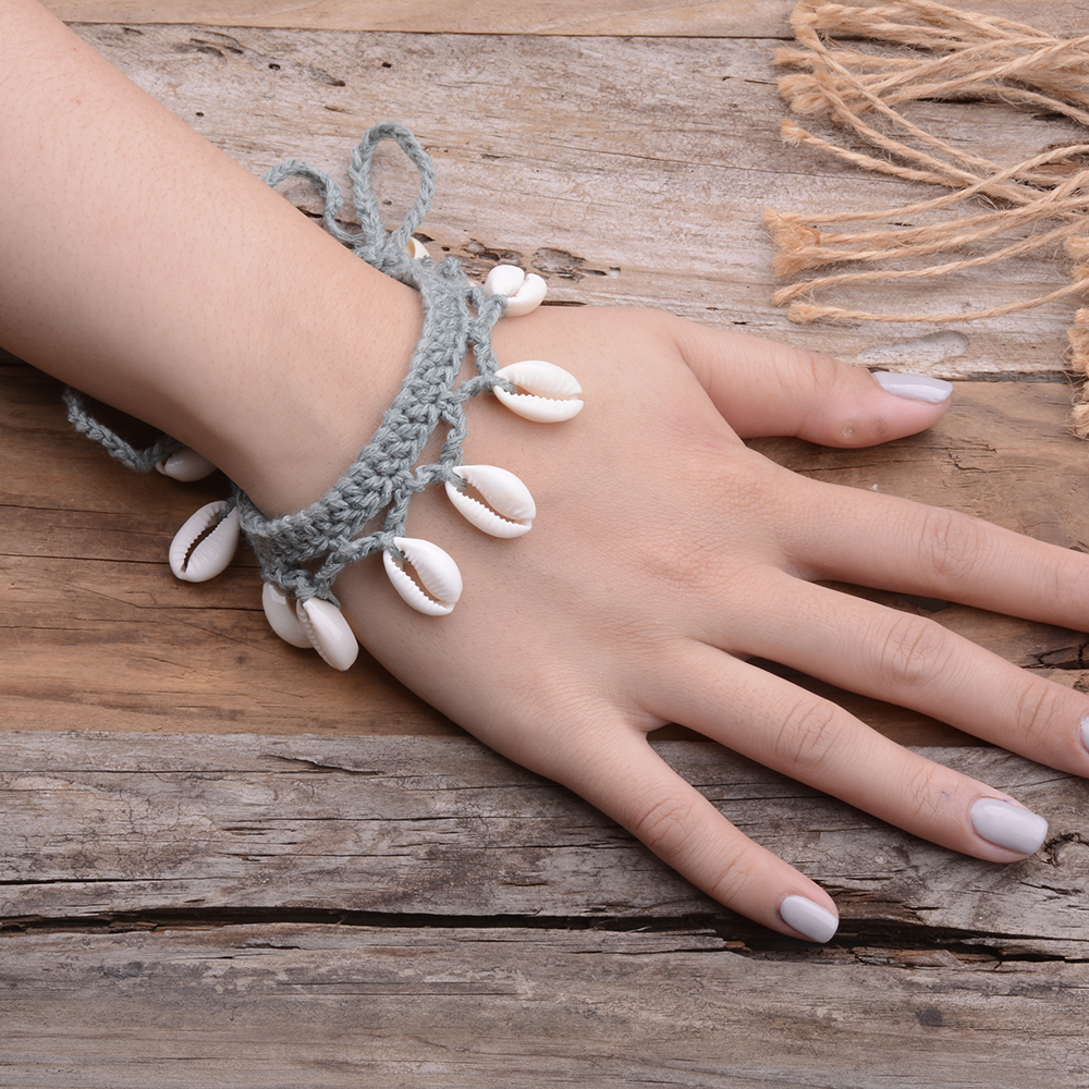 Beach Wedding Shell Necklace Bracelet Anklet Crochet Wedding Accessories Shell Necklace Collar Necklace Foot Anklet Bracelets