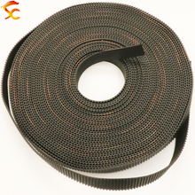 High quality 10meters GT2 open timing belt width 9mm/10mm/12mm/15mm/20mm 2GT belt for 3D printer Free shipping