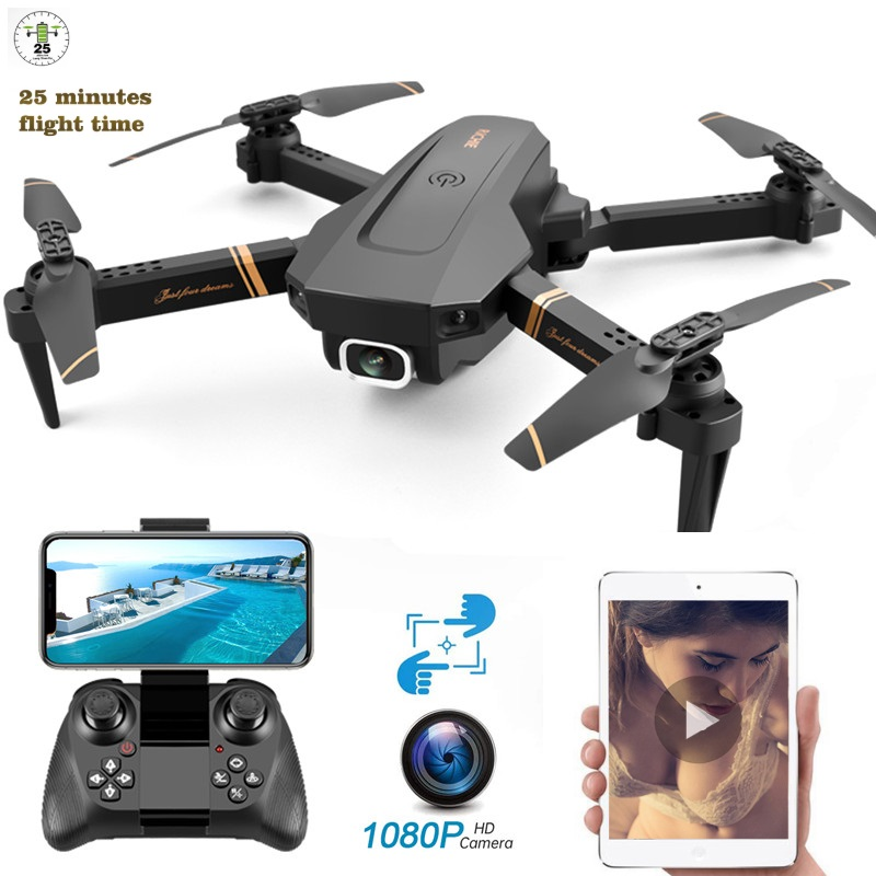 V4 New Drone WiFi Live Video 4K HD Wide Angle Camera Foldable Altitude Hold Durable RC Drone With Best Gift For Kids