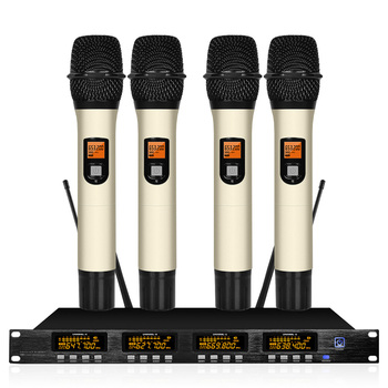 Four Channel Wireless Conference Microphone System Professional Microphone 4 Channel Dynamic 4 Handheld Microphone