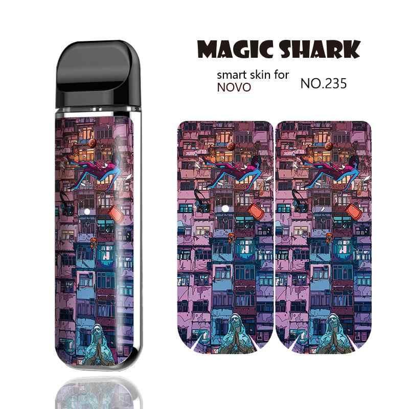 ماجيك القرش 100% جديد أزياء ورقة لطيف بيت قطة حزب PVC Vape قرنة ملصقا حالة غطاء ل Smok نوفو كيت