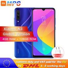 """Version mondiale Xiao mi A3 mi A3 4GB 128GB Smartphone Snapdragon 665 Octa Core 6.088 """"AMOLED écran 48MP + 32MP caméra 4030mAh"""