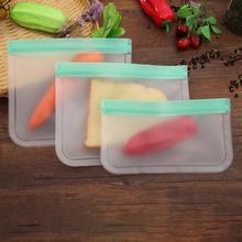 Многоразовые силиконовые пакеты для хранения продуктов, вакуумные контейнеры для фруктов, мяса, молока, сэндвичей, Ziplock, холодильник, свежий мешок, кухонные принадлежности