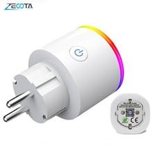 Wifi חכם תקע מיני Homekit האיחוד האירופי Electircal Socket אנרגיה ניטור 15A קול שלט רחוק על ידי Smartlife Tuya Alexa Google בית