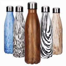 Купить с кэшбэком 500ml BPA FREE Insulated sports Grain auto MILK coffee Cup Stainless Steel Thermos Water Bottle Vacuum Flask Travel TEA Mug