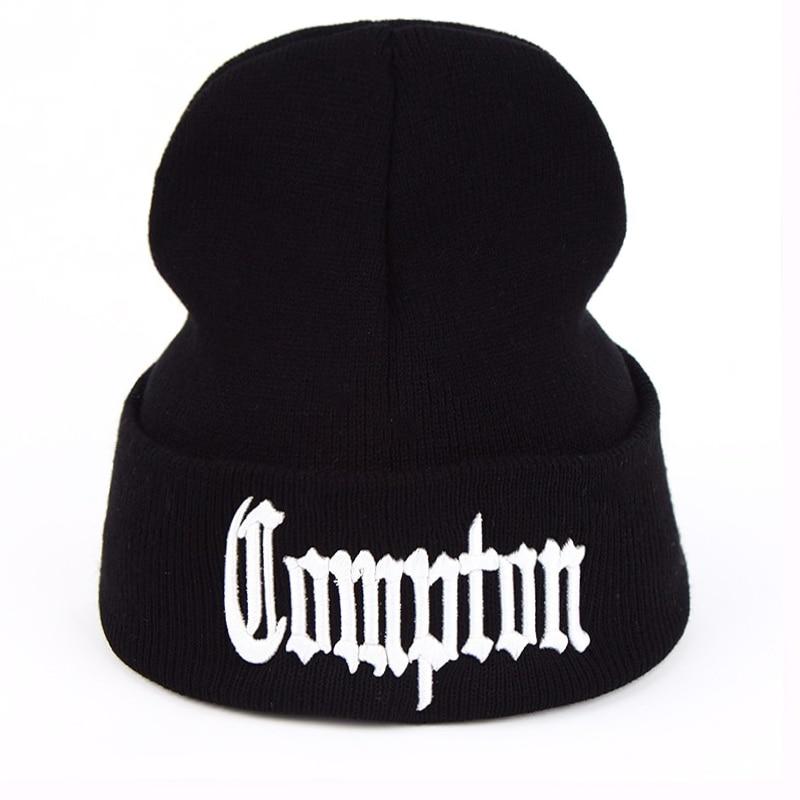 New West Beach Gangsta Compton Eazy-E Winter Warm Fashion Beanies Hats Knitted Bonnet Caps Hip Hop Gorros Knit Hats Men Women