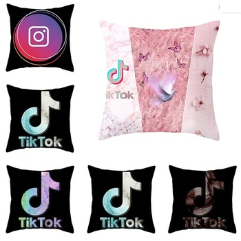 Pillow Cover Tik-Tok Home Decor Pillowcase Square Size 18Inch18Inch Cushion Case Throw Pillow Cover Case