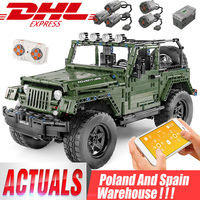 RC Jeeps Wranglers Adventurer Off road Car MOC 5140 fit Technic building blocks Bricks Kids Toy compatible Christmas Gift