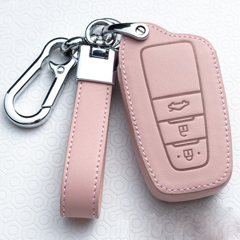 Leather Car Key Cover Case For Toyota Prius Camry Corolla C-HR CHR RAV4 Prado Auris Avensis Land Cruiser 200 Prado Crown Revo leather car seat cover for toyota auris avensis aygo camry 40 50 chr c hr corolla verso of 2018 2017 2016 2015