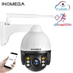 INQMEGA 1080P chmura zewnętrzna kamera PTZ IP WIFI prędkość Dome automatyczna kamera śledząca 4X Zoom cyfrowy 2MP Onvif IR kamera do monitoringu cctv