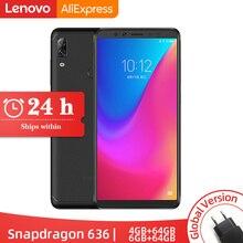 Оригинальная глобальная версия lenovo K5 Pro, 6 ГБ ОЗУ, 64 ГБ/128 ГБ Восьмиядерный процессор Snapdragon 636, четыре камеры, 5,99 дюйма, 4G LTE смартфон