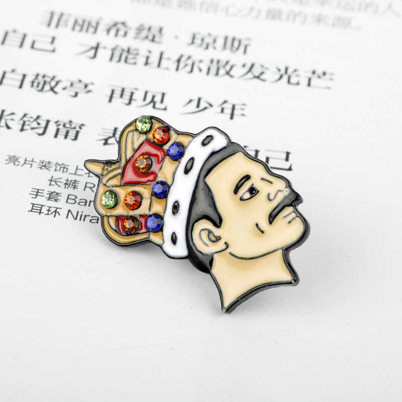 Batu Anda Enamel Pin Wu-Tang dari Queen David Bowie Bros Tas Pakaian Kerah Pin Lencana Rock And Roll perhiasan Pecinta Musik