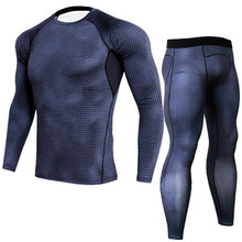 Men Compression Thermal Underwear Sets Running jogging Suits Clothes Sport Set Long