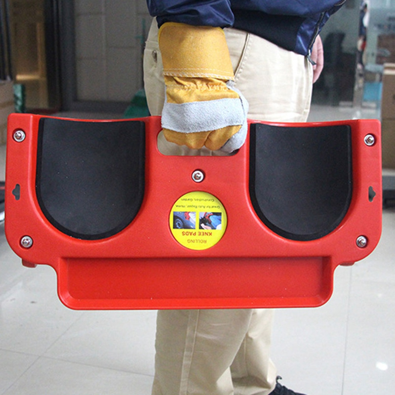 New Rolling Knee Protection Pad With Wheels Built In Foam Padded Creeper Platform Laying Tile Or Vinyl Auto Repair Protecting Kn