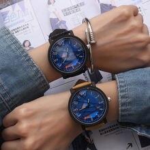 New arrival couples watch women men antique leather dress wristwatches