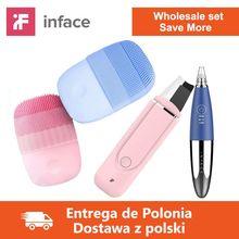 オリジナルinface卸売スキンケアツールスマートソニッククリーンな電気ブラシ & スキンスクラバー & backhead除去