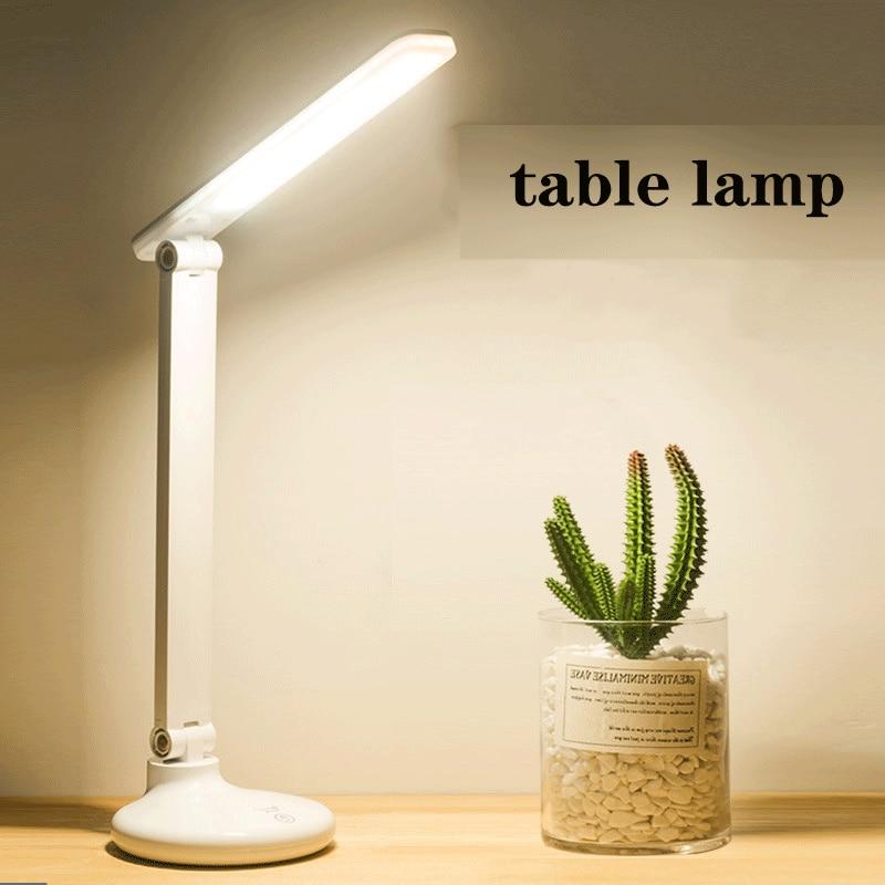 Folding LED table lamp USB charging eye protection reading learning desk light bedroom evening lighting dimmable bedside lamp|Desk Lamps| |  -